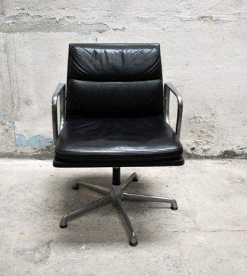 Bürosessel Aus Leder Von Charles Ray Eames Für Icf 1960er Bei