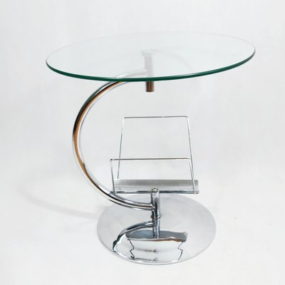 Glass Coffee Table With Magazine Rack 7