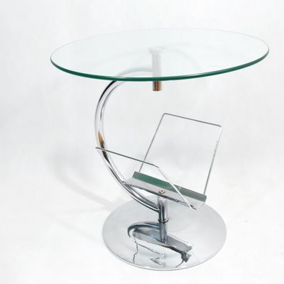 Glass Coffee Table With Magazine Rack 9