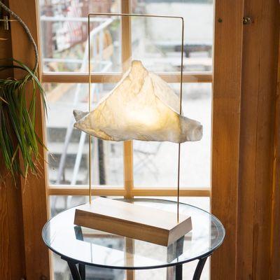 Large Matterlight Table Lamp in Silver & Ash by Boris Dennler