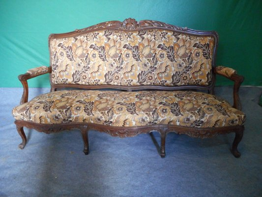 Antique Walnut Louis Xv Sofa For Sale At Pamono