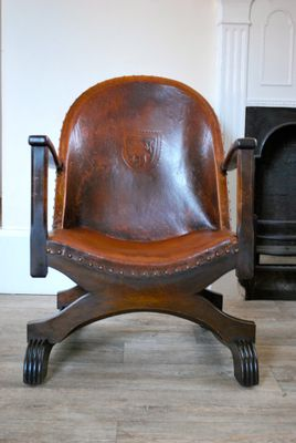 Vintage Leather Fireside Chairs Set Of 2 1