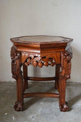 Table Basse d\'Appoint Dragon en Bois Sculpté, 1890s en vente sur Pamono