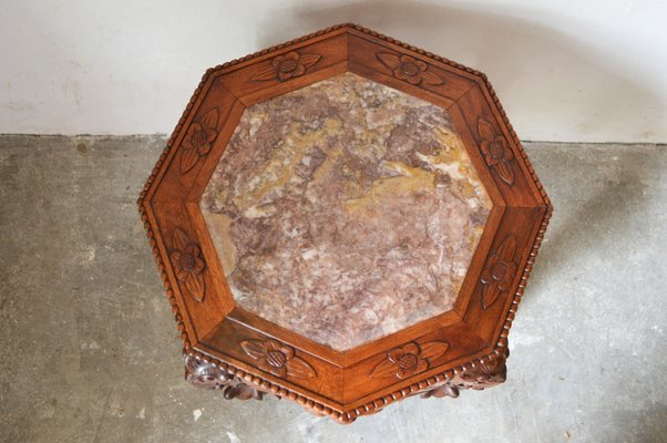 Low carved wood dragon side table 1890s for sale at pamono