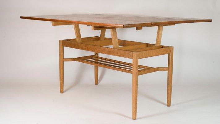 Mesa de comedor o centro Sesam metamórfica de Folke Ohlsson para  Tingströms, años 60