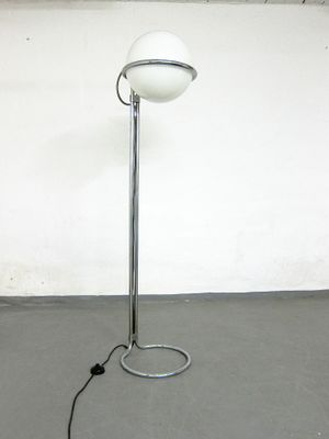 E Age Chrome Gl Floor Lamp From Kaiser