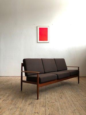 Mid-Century Modern Danish Teak Sofa by Grete Jalk for France & Søn