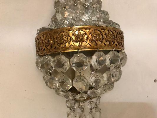 Applique vintage in cristallo anni set di in vendita su pamono