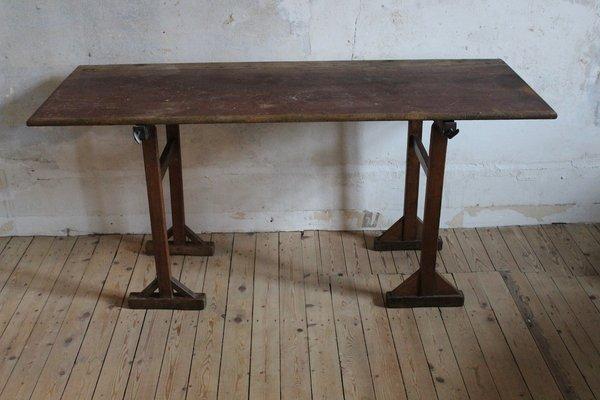 Antique Pine Trestle Table 1