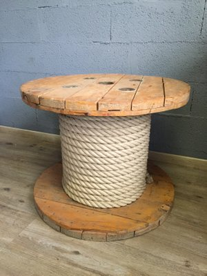 Wooden Spool Coffee Table 1980s