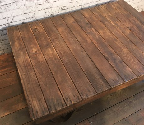 Table Basse A Palette Industrielle 1950s