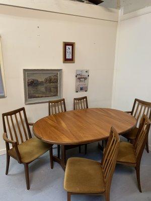 Tavolo da pranzo con sei sedie di G-Plan in vendita su Pamono