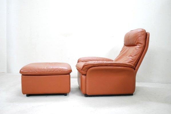 Super Vintage Ds 49 Cognac Leather Lounge Chair Ottoman From De Sede Ibusinesslaw Wood Chair Design Ideas Ibusinesslaworg