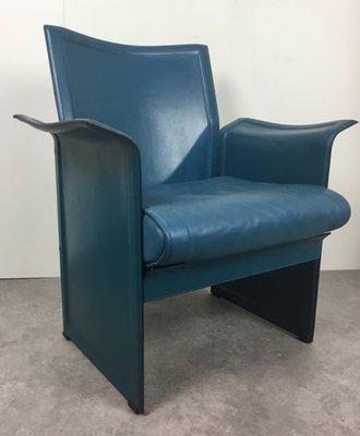 Matteo Grassi Design.Leather Korium Armchair By Tito Agnoli For Matteo Grassi 1970s