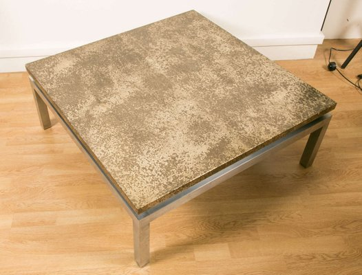 Large Square Coffee Table 1970s