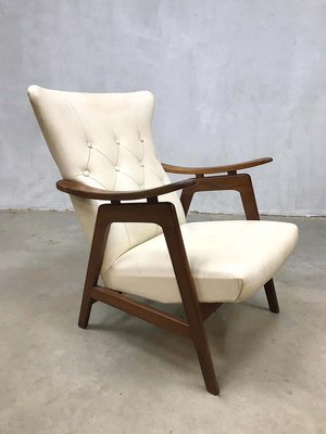 Vintage Wingback Armchairs By Louis Van Teeffelen For Webe Set Of 2