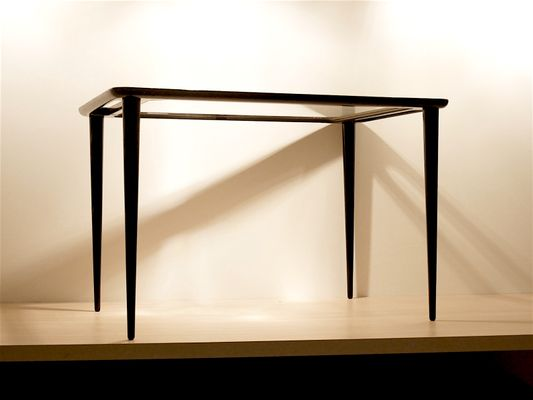 Beau Black Hairpin Side Table By Cesare Lacca, 1950s
