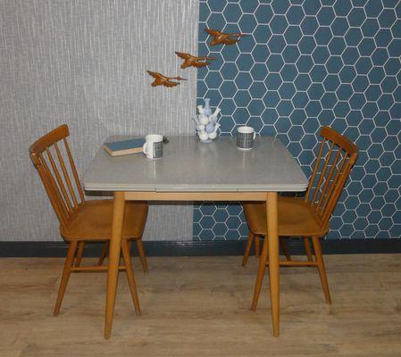 Tavolo da cucina allungabile in formica, anni \'50 in vendita su Pamono