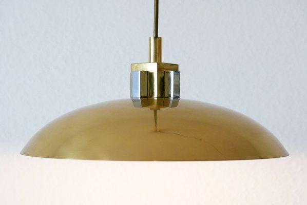 Mid Century Modern Brass Pendant Lamp, Brass Pendant Lamp