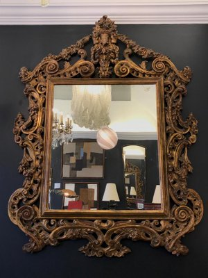 606f37a20ba6 Large 19th Century Rococo Carved Wall Mirror for sale at Pamono
