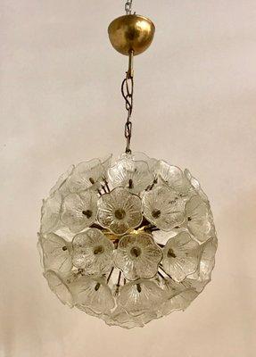 Mid Century Sputnik Murano Flower Light From Venini 1