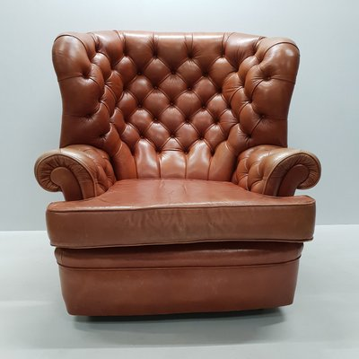 Astonishing Leather Wing Chair From Whittle Brothers Of Warrington 1970S Pabps2019 Chair Design Images Pabps2019Com