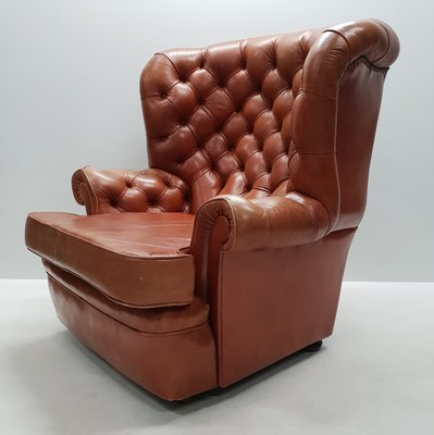 Enjoyable Leather Wing Chair From Whittle Brothers Of Warrington 1970S Pabps2019 Chair Design Images Pabps2019Com