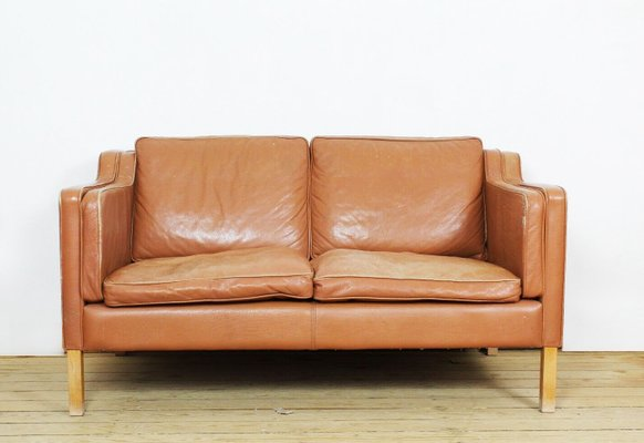 Vintage Danish Aniline Leather Teak Sofa From Stoby For Sale At Pamono