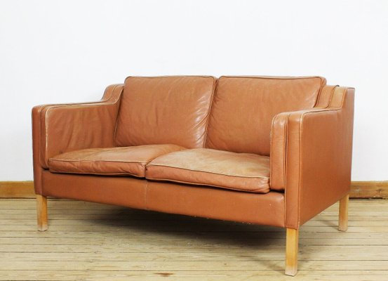 Magnificent Vintage Danish Aniline Leather Teak Sofa From Stoby Ncnpc Chair Design For Home Ncnpcorg