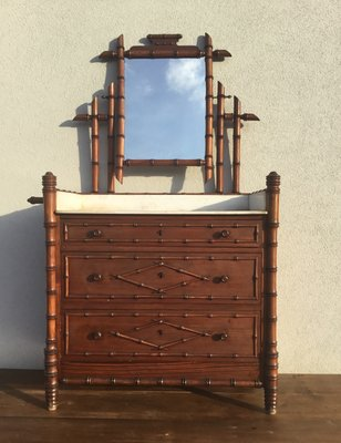 19th Century French Faux Bamboo Dresser