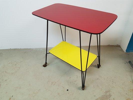 Sensational German Side Table On Wheels 1960S Interior Design Ideas Tzicisoteloinfo