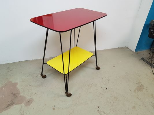 Fabulous German Side Table On Wheels 1960S Interior Design Ideas Tzicisoteloinfo