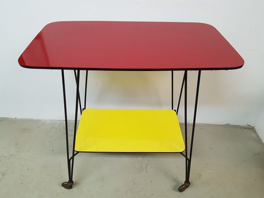 Surprising German Side Table On Wheels 1960S Interior Design Ideas Tzicisoteloinfo