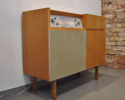 Musikschrank Hm1 Radio With Record Player From Braun 1956 For Sale