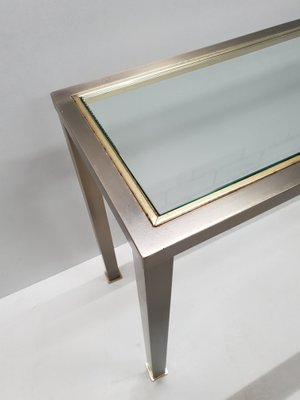 Vintage Industrial Brushed Steel Gilt Console Table From Belgo Chrom 1980s For Sale At Pamono