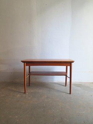 Table Basse Extensible En Chene Et En Laiton Danemark