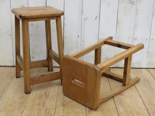 Sgabelli da laboratorio scolastico vintage regno unito set di