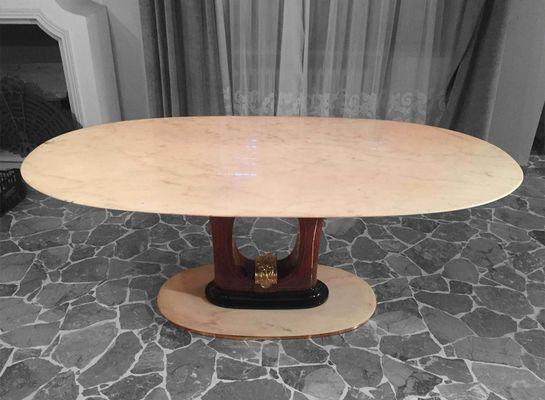 Tavolo da pranzo mid century in marmo italia in vendita su