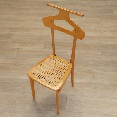 Chaise de Valet Vintage en Bois et en Rotin par Ico & Luisa Parisi ...