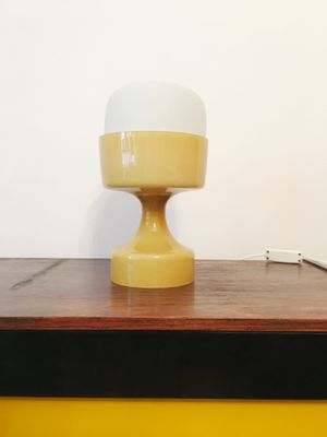 Yellow Glass Table Lamp By Ivan Jakes 1960s For Sale At Pamono