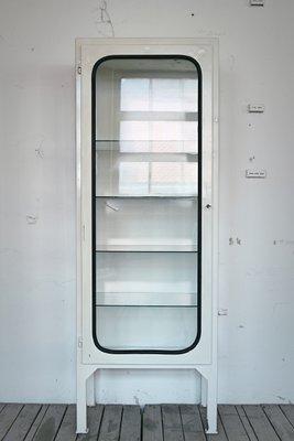 Vintage Metal Cabinets >> Vintage Metal Glass Medicine Cabinet For Sale At Pamono