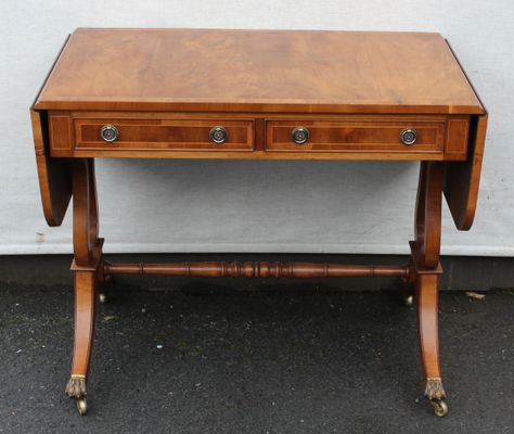 Burr Walnut Drop Leaf Side Table 1930s For Sale At Pamono
