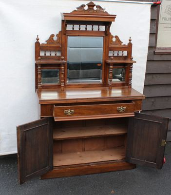 Antique Buffet With Mirror >> Antique Mahogany Buffet With Mirror For Sale At Pamono
