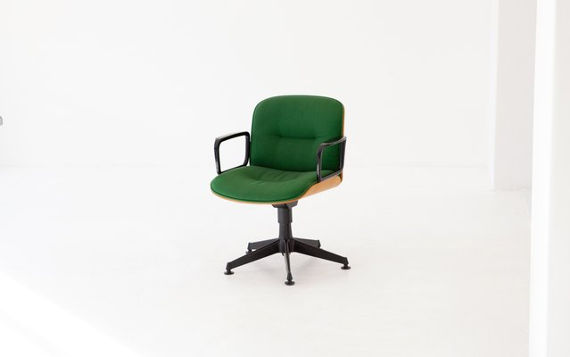Pair Of Retro Painted 1960's Teak Office Chairs 1960s