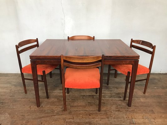 Charmant Vintage Danish Rosewood Chairs, 1950s, Set Of 6 1