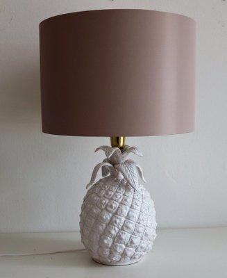 Merveilleux Italian Ceramic Pineapple Table Lamp, 1960s 1