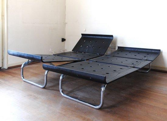 Groovy Plywood Tubular Steel Daybed By Albert Hilfiker 1960S Creativecarmelina Interior Chair Design Creativecarmelinacom