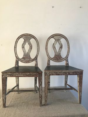 18th Century Swedish Chairs Set Of 2 For Sale At Pamono