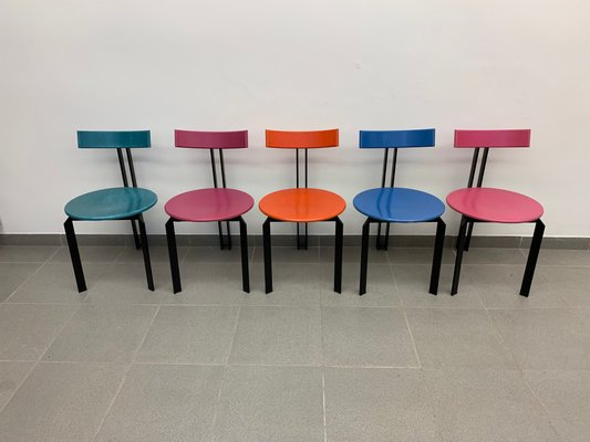 Design Harvink Bank.Zeta Chairs From Harvink 1980s Set Of 5