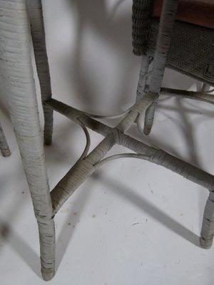 Table et Chaises de Jardin Vintage en Osier 1980s en vente sur Pamono